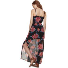 Juniors' Lily Rose Floral Maxi Dress