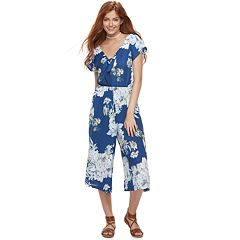 Juniors' Lily Rose Floral Jumpsuit