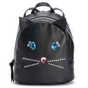 T-Shirt & Jeans Jeweled Cat Mini Backpack