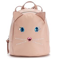 T-Shirt & Jeans Jeweled Cat Mini Backpack