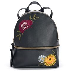 T-Shirt & Jeans Floral Applique Mini Backpack
