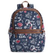 T-Shirt & Jeans Graffiti Denim Large Dome Backpack