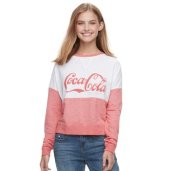 Juniors' Coca-Cola Graphic Long Sleeve Top