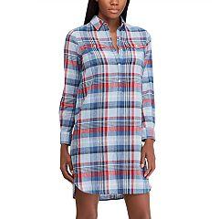 Women's Chaps Plaid Shirt Dress