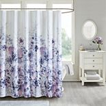Madison Park Adella Floral Printed Shower Curtain