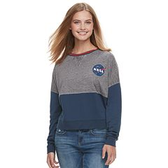Juniors' NASA Graphic Long Sleeve Top