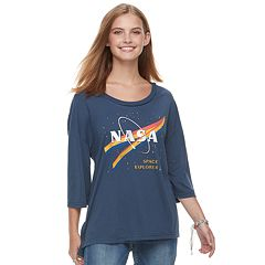 Juniors' NASA 'Space Explorer' Drop-Shoulder Graphic Tee