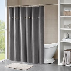 Madison Park Rianon Finley Waffle Weave Textured Shower Curtain