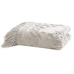 Madison Park Chloe Cotton Tufted Throw