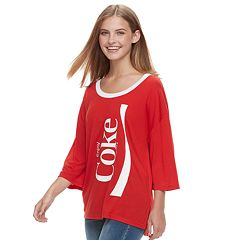 Juniors' Coca-Cola 'Enjoy' Drop-Shoulder Graphic Tee