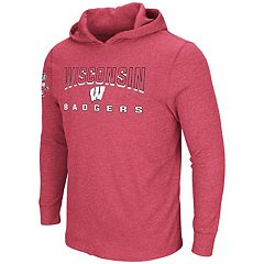 Men's Wisconsin Badgers Thermal Hooded Tee