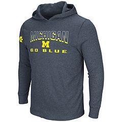 Men's Michigan Wolverines Thermal Hooded Tee
