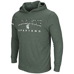 Men's Michigan State Spartans Thermal Hooded Tee