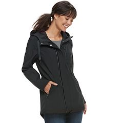 Women's Sebby Collection Hooded Soft Shell Anorak Jacket