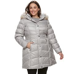 Plus Size Gallery Hooded Quilted Puffer Jacket