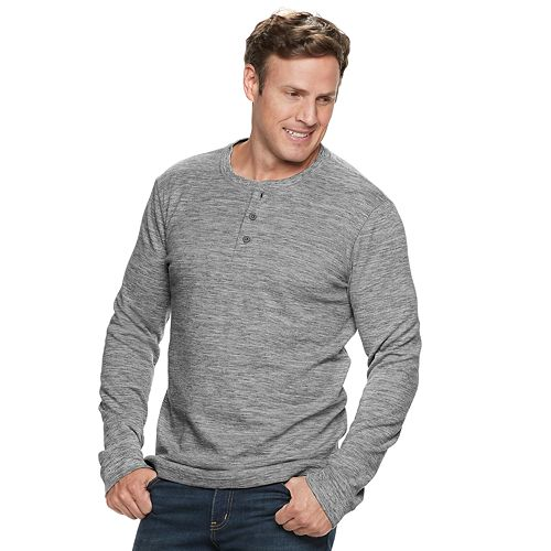 Big & Tall SONOMA Goods for Life™ Modern-Fit Supersoft Thermal Henley
