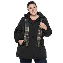 Plus Size Gallery Hooded Faux-Silk Anorak Jacket