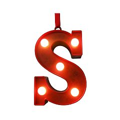 St Nicholas Square® Marquee Light-Up Monogram Christmas Ornament