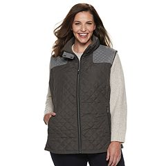 Plus Size Gallery Quilted Midweight Vest