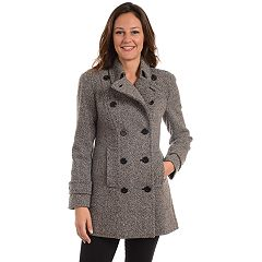 Women's Fleet Street Double-Breasted Wool Blend Peacoat