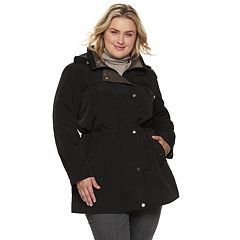 Plus Size Gallery Button Out Anorak Jacket
