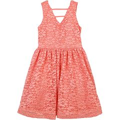 Girls 7-16 Speechless Floral Lace Sleeveless Dress