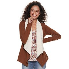 Juniors' Neon Soul Sherpa Cardigan Set