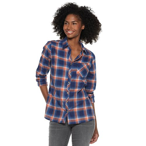 83881851 Women's SONOMA Goods for Life™ Essential Supersoft Flannel Shirt