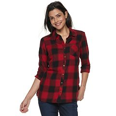 Women's SONOMA Goods for Life™ Essential Supersoft Flannel Shirt