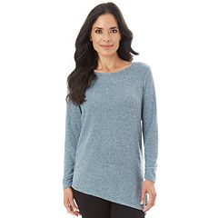 Women's Apt. 9® Asymmetrical Ribbed Crewneck Sweater