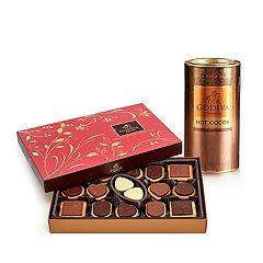 Godiva  Milk Chocolate Hot Cocoa & Chocolate Biscuit Gift Set