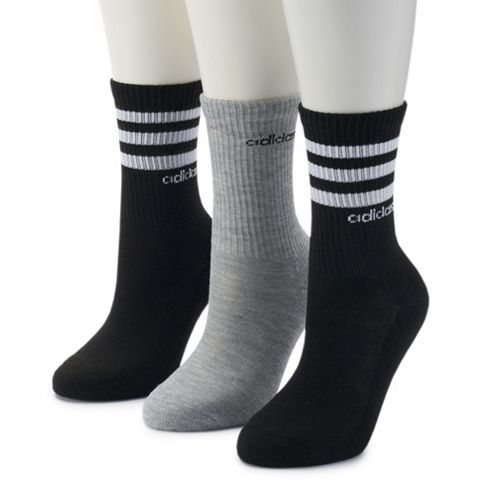 Women's adidas 3-Pack climalite Striped Crew Socks