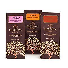 Godiva  Ground Coffee 3-Piece Variety Set