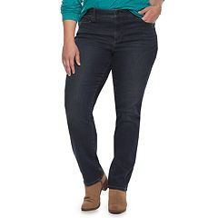Plus Size SONOMA Goods for Life™ Curvy Fit Mid-Rise Straight-Leg Jeans