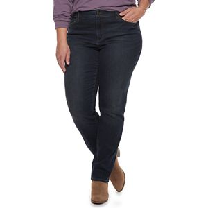 7ea2b3b73fa Sale.  29.99. Regular.  44.00. Plus Size SONOMA Goods for Life™ Curvy Fit  Mid-Rise Straight-Leg Jeans