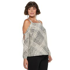 Women's Juicy Couture Georgette Cold Shoulder Top