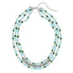 Napier Bead Multi Strand Necklace