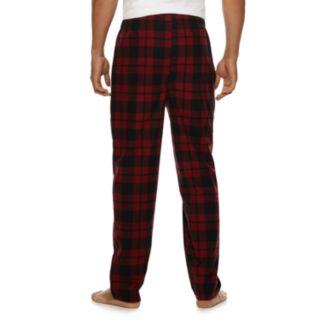 Men's Fruit of the Loom Signature Plaid Fleece Sleep Pants