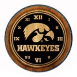 Iowa Hawkeyes Round Wall Clock