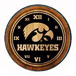 Iowa Hawkeyes Wine Barrelhead Clock