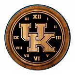 Kentucky Wildcats Wine Barrelhead Clock