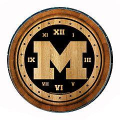 Michigan Wolverines Round Wall Clock