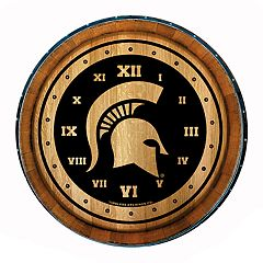 Michigan State Spartans Round Wall Clock