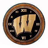 Wisconsin Badgers Wine Barrelhead Clock