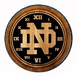 Notre Dame Fighting Irish Wine Barrelhead Clock