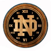 Notre Dame Fighting Irish Wine Barrelhead Clock