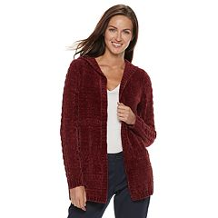 Women's SONOMA Goods for Life™ Chenille Hooded Cardigan