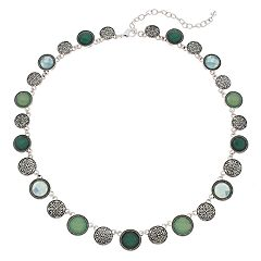 Napier Blue & Green Circle Collar Necklace