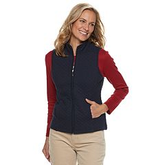 Petite Croft & Barrow® Quilted Knit Vest