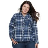 Plus Size SONOMA Goods for Life? Essential Supersoft Flannel Shirt